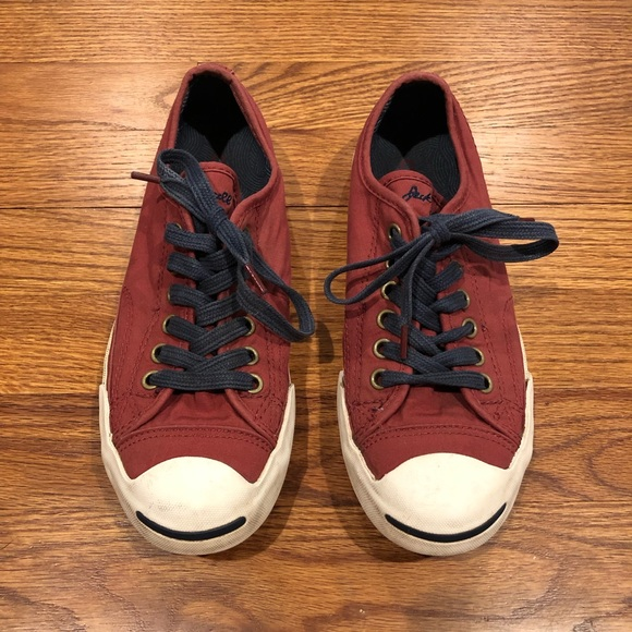 e1892129a5bbe Converse Jack Purcell Maroon and Navy size 6.5